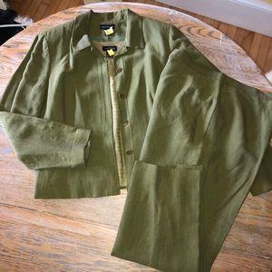 ANN TAYLOR 55%linen/45%rayon 3pc suit